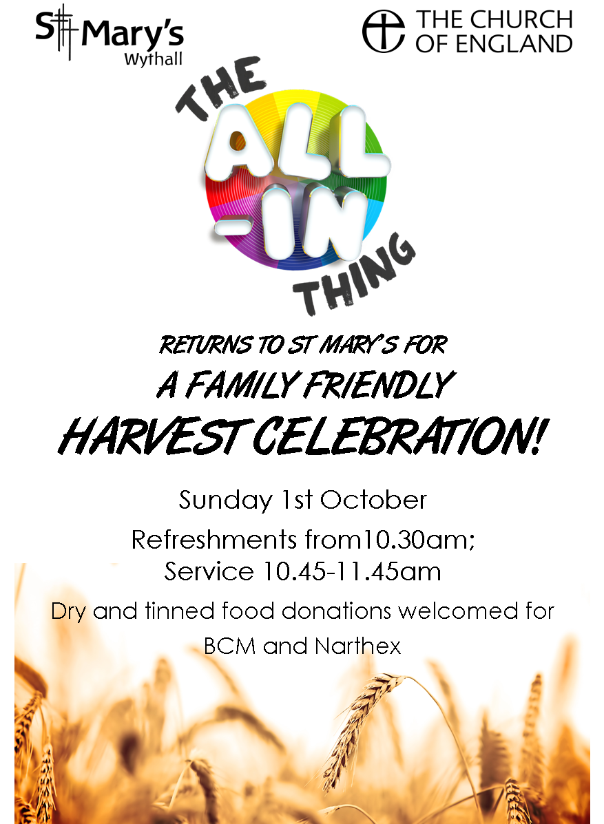 The All-In Thing: Harvest Celebration! @ Hollywood | England | United Kingdom