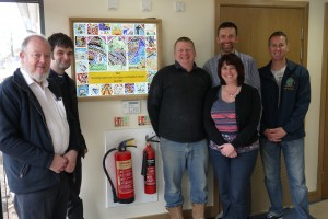 Handover day, featuring (L-R) Brian Lee, Rich Burley, Warren Bland, Richard Pill (Project Manager), Lisa Howfield,  Rich Mace