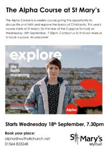Alpha Course @ St Mary's Church | Hollywood | England | United Kingdom