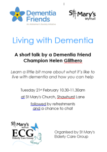Living with Dementia Talk