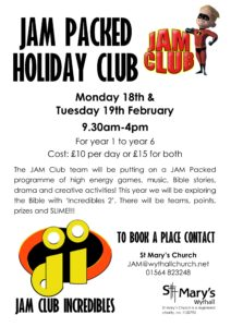 JAM Packed Holiday Club