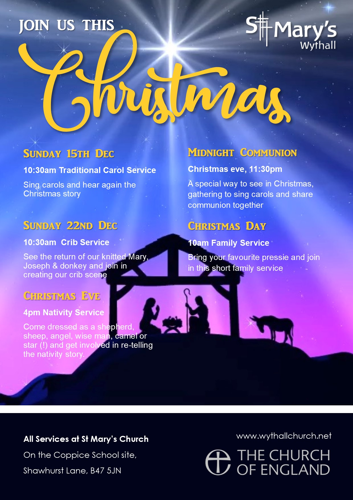 Christmas Eve Nativity Service @ Hollywood | United Kingdom
